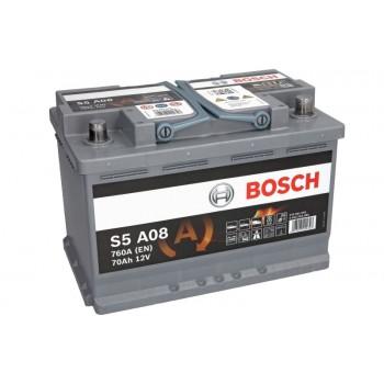 Аккумулятор Bosch 70Ah/760A AGM 0 092 S5A 080
