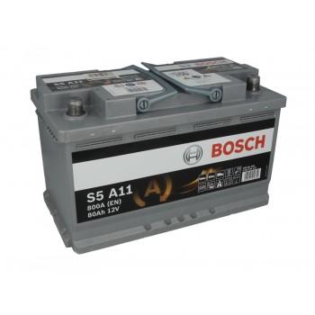 Аккумулятор Bosch 80Ah/800A AGM 0 092 S5A 110