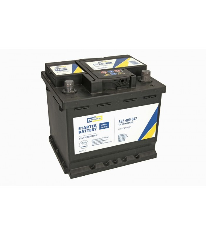 Аккумулятор Cartechnic 52Ah/470A ULTRA POWER CART552400047