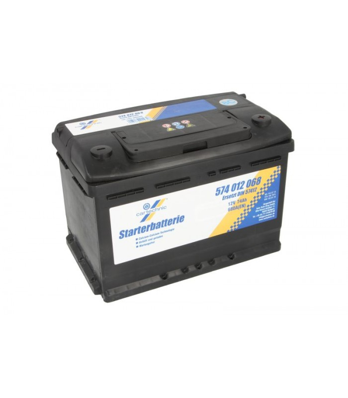 Аккумулятор Cartechnic 74Ah/680A ULTRA POWER CART574012068