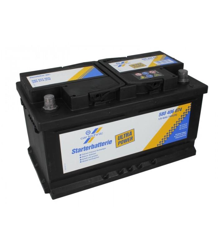 Аккумулятор Cartechnic 80Ah/740A ULTRA POWER CART580406074