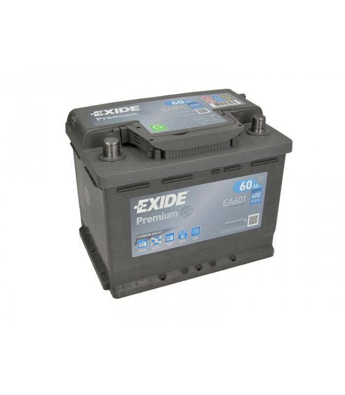 Аккумулятор Exide 61Ah/600A PREMIUM EA601