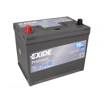 Аккумулятор Exide 75Ah/630A PREMIUM EA755