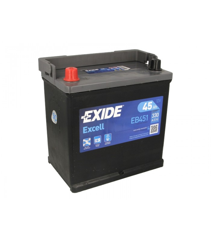 Аккумулятор Exide 45Ah/330A EXCELL EB451