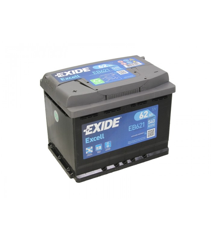 Аккумулятор Exide 62Ah/540A EXCELL EB621