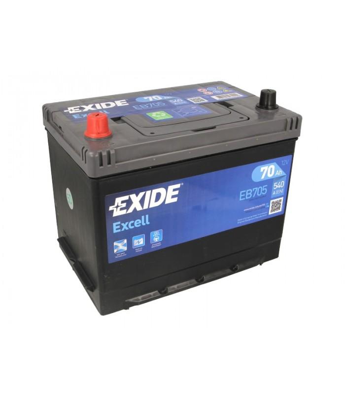 Аккумулятор Exide 70Ah/540A EXCELL EB705