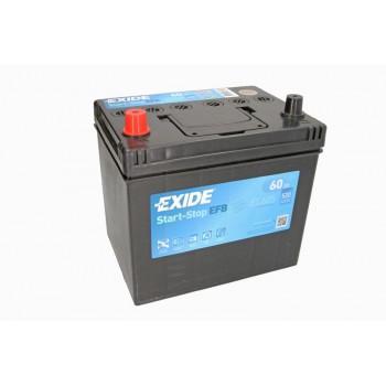 Аккумулятор Exide 60Ah/520A START&STOP EFB EL605