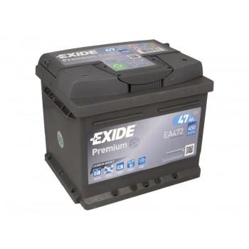 Аккумулятор Exide 47Ah/450A PREMIUM EA472