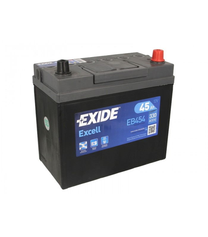 Аккумулятор Exide 45Ah/330A EXCELL EB454
