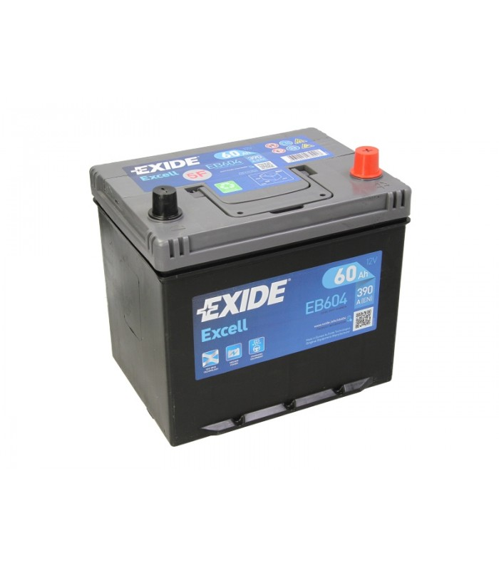 Аккумулятор Exide 60Ah/390A EXCELL EB604