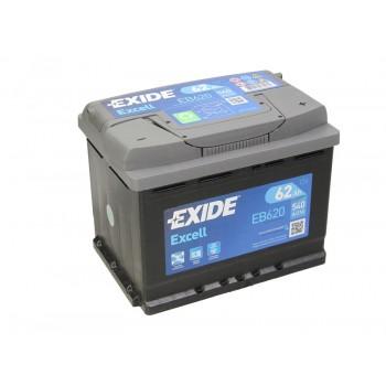 Аккумулятор Exide 62Ah/540A EXCEL EB620