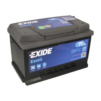 Аккумулятор Exide 71Ah/670A EXCELL EB712
