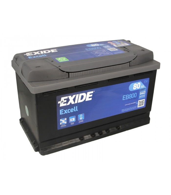 Аккумулятор Exide 80Ah/640A EXCELL EB800