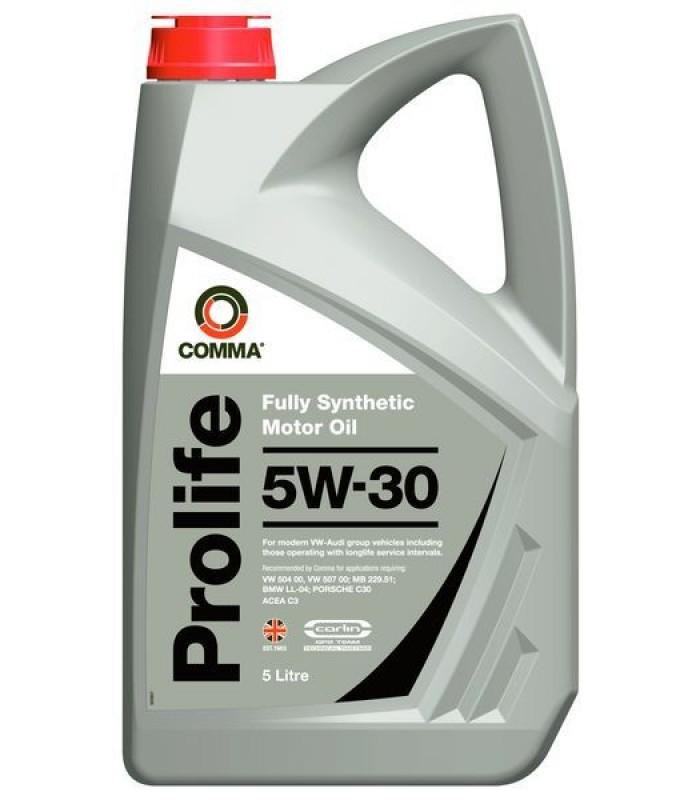 Моторное масло Comma PROLIFE 5W30 5L