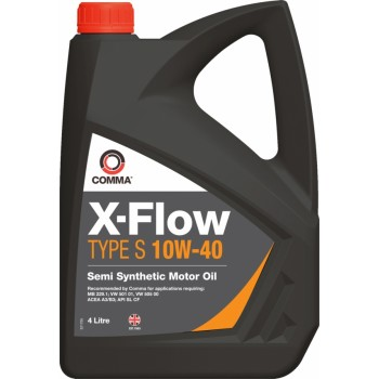 Моторное масло Comma X-FLOW S 10W40 SEMI. 4L