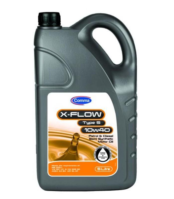 Моторное масло Comma X-FLOW S 10W40 SEMI. 5L