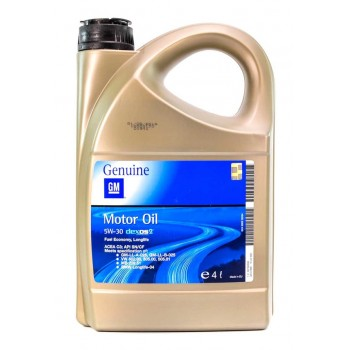 Моторное масло General Motors Dexos2 5W-30 4L