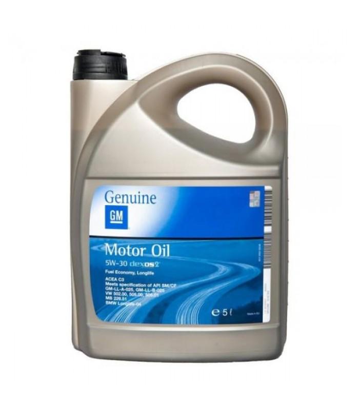 Моторное масло General Motors Dexos2 5W-30 5L