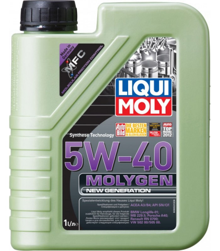 Моторное масло Liqui Moly Molygen New Generation 5W-40 1L