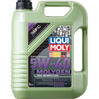 Моторное масло Liqui Moly Molygen New Generation 5W-40 5L