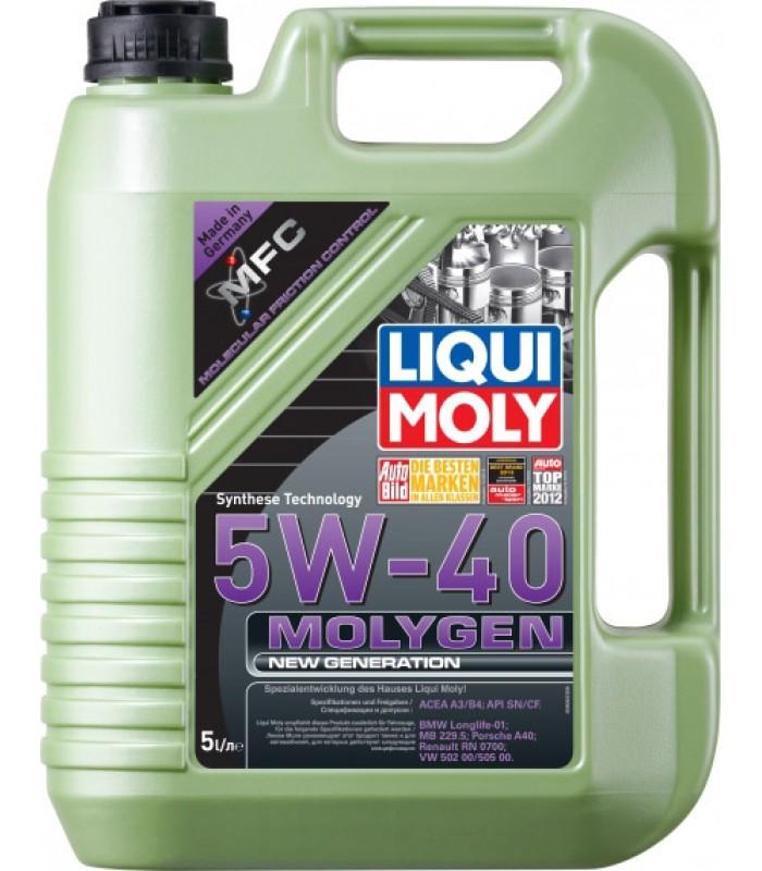 Моторное масло Liqui Moly Molygen New Generation 5W-40 5L