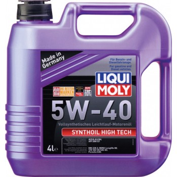 Моторное масло Liqui Moly Synthoil High Tech 5W-40 4L