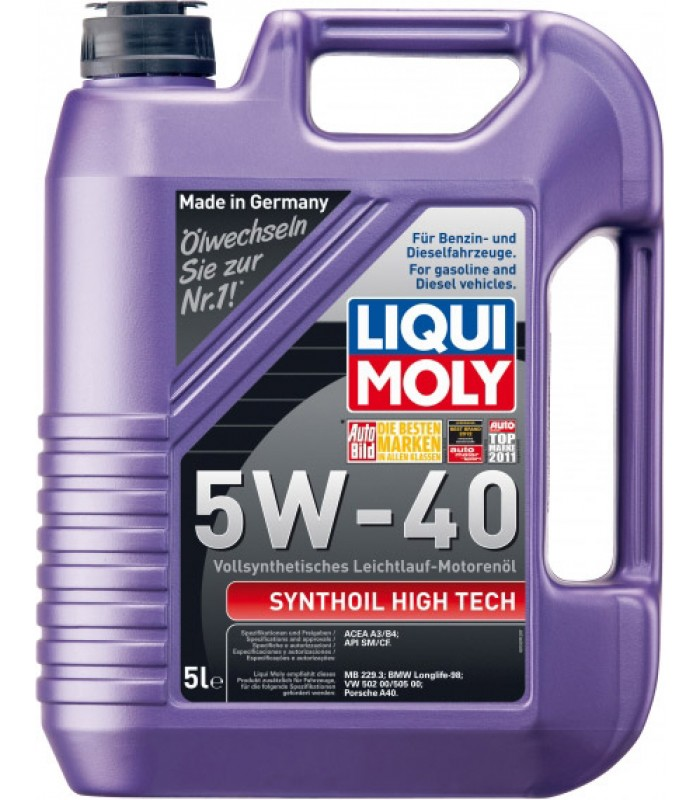 Моторное масло Liqui Moly Synthoil High Tech 5W-40 5L