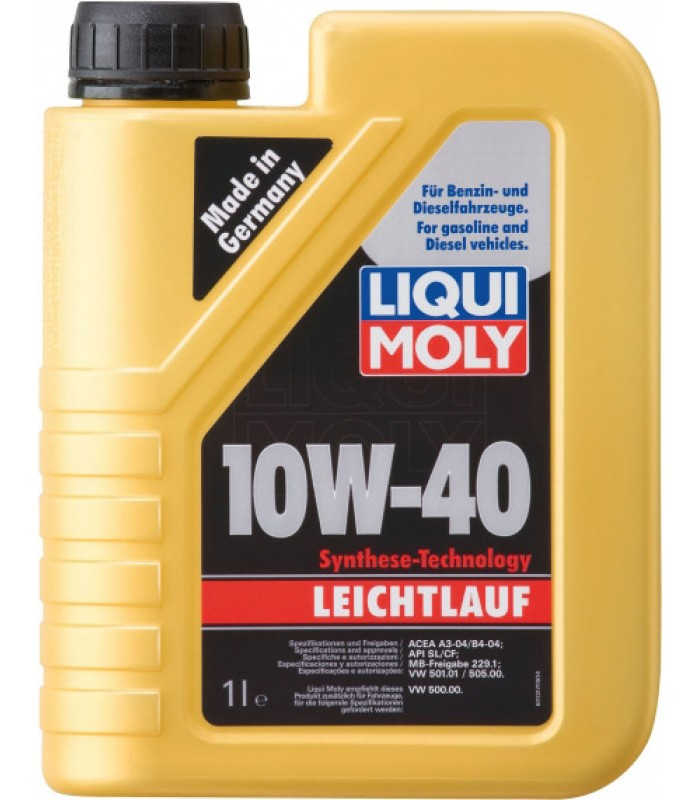 Моторное масло Liqui Moly Leichtlauf 10W-40 1L