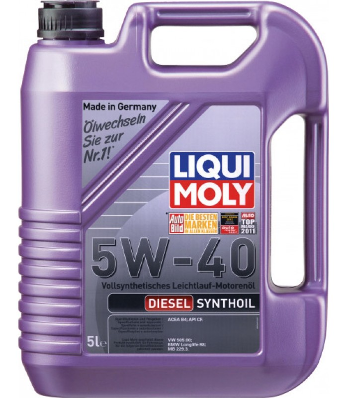 Моторное масло Liqui Moly Diesel Synthoil 5W-40 5L