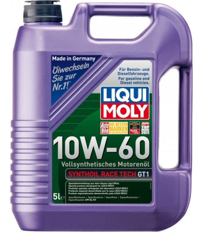 Моторное масло Liqui Moly Synthoil Race Tech GT1 10W-60 5L