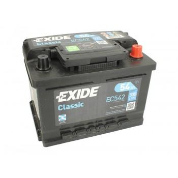 Аккумулятор Exide 54Ah/500A CLASSIC EC542