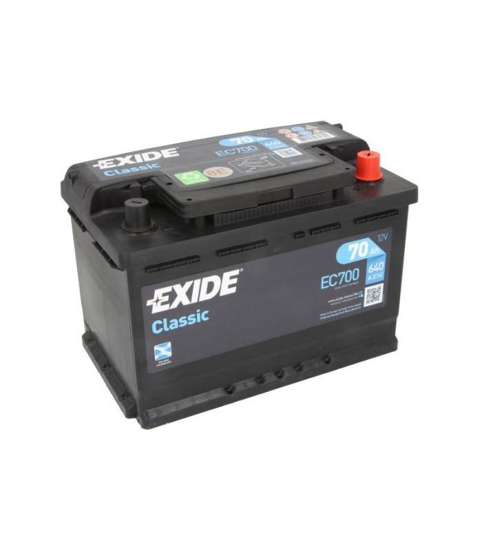 Аккумулятор Exide 70Ah/640A CLASSIC EC700