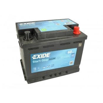 Аккумулятор Exide 60Ah/680A START&STOP AGM EK600