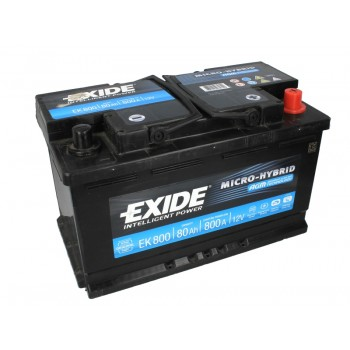 Аккумулятор Exide 80Ah/800A START&STOP AGM EK800