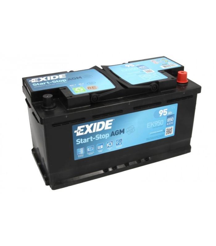Аккумулятор Exide 95Ah/850A START&STOP AGM EK950