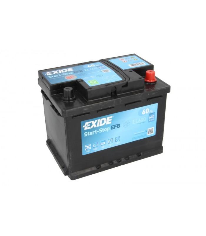 Аккумулятор Exide 60Ah/640A START&STOP EFB EL600