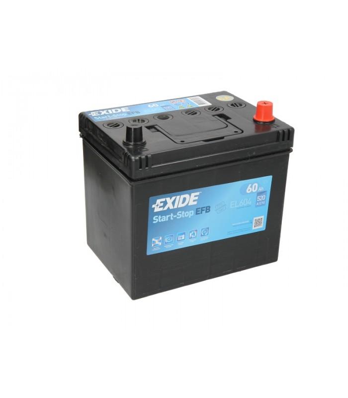 Аккумулятор Exide 60Ah/520A START&STOP EFB EL604