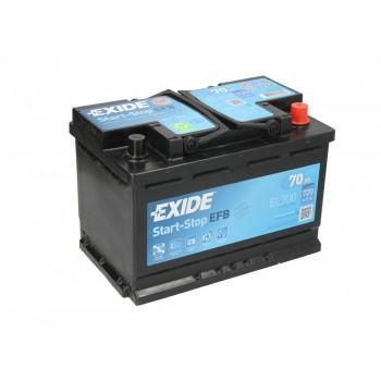 Аккумулятор Exide 70Ah/720A START&STOP EFB EL700
