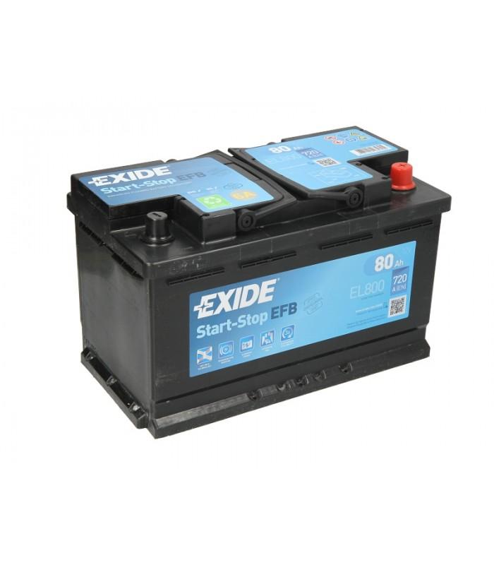 Аккумулятор Exide 80Ah/720A START&STOP EFB EL800